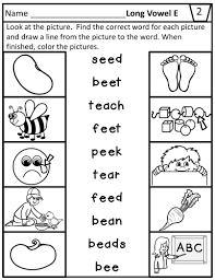 250 free phonics worksheets covering all 44 sounds, reading, spelling, sight words and sentences! Long Vowel E Teams Worksheets For Ee Ea
