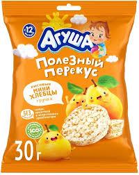 <b>Мини</b>-<b>хлебцы Агуша</b> Полезный перекус рисовые с грушевым ...