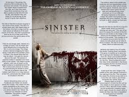poster analysis sinister nick wilson a media poster analysis sinister