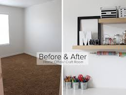 home office craft room. Before And After Home Office Craft Room