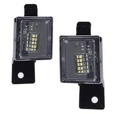2018 Silverado License Plate Light Bulb Amazon Com Yankok Led License Plate Light Assembly For