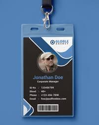 Identity Card Design 10 Free Employee Id Card Design Templates Mockups Utemplates