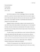 visual analysis essay