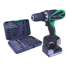 hitachi cordless drill. hitachi ds14dsfl 14.4v li-ion cordless drill driver with 102 piece and
