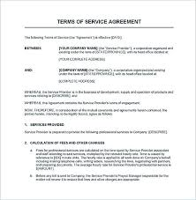 Service Contract Template Free Contract Template Sample Service Agreement Between Two Parties Service Contract