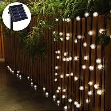 5 M 20 Led Zonne Energie Sneeuw Bal Fairy String Light Outdoor Tuin