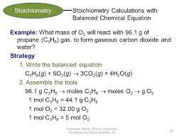 stoichiometry calculations with balanced chemical equation