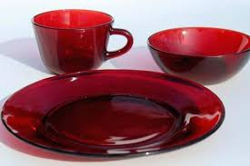 red glass dinnerware vintage ruby red glass dishes plates bowls mug cups set for 6 red glass charger plates dinnerware