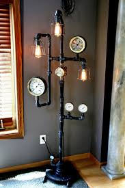 lighting diy floor lamp surprising machine age lamps steampunk gorgeous homes and kit base