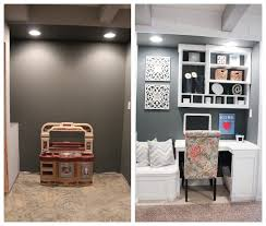 office nook ideas.  Nook Excellent Office Nook Ideas And Built In Basement Project With E