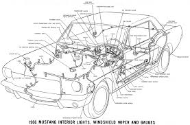 1966 mustang wiring diagrams average joe restoration 1966 mustang interior lights windshield wiper and gauges · schematic