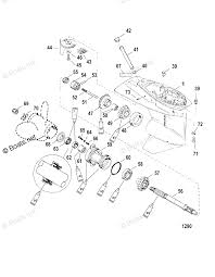 Mercury outboard by hp 40hp oem parts diagram for gear housing rh boats mercury tempest