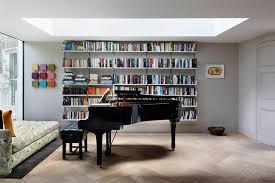 Bookcase Design Ideas Modern Bookcase Grey Walls