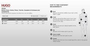 Polo Shirt Size Conversion Chart Hugo Boss Size Chart