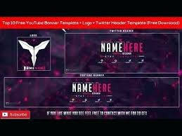 Youtube Template Psd Top Free Banner Template Logo Twitter Header Do Youtube And