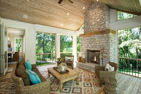 minneapolis four season porch traditional with stone fireplace standard height outdoor dining sets wood panel ceiling