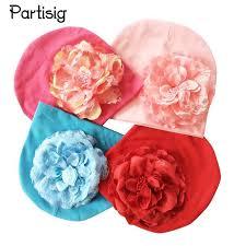 Baby Hat Big <b>Floral Baby Girls Hats Flower Baby Girls Caps</b> ...