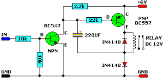 12v relay on 6v power supply electronics lab description this circuit allows a 12v relay