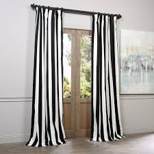 Contemporary Black And White Curtains The Cabana Stripe Cotton In Decorating Ideas