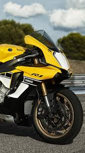 yamaha yzf r1 2016 60th anniversary bike yellow wallpaper