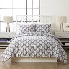 Shadow Comforter Mini Set Full/Queen | Vera Bradley & Image of Shadow Comforter Mini Set Full/Queen in Northern Lights Gray Adamdwight.com