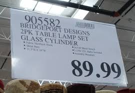 deal for the bridgeport designs glass cylinder table lamps at costco