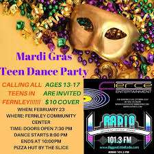 Mardi gras teen party