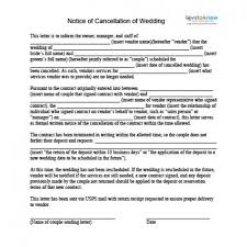 sales rep termination letter how to cancel a wedding