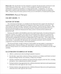 9+ Physical Therapist Job Description Samples | Sample Templates