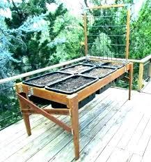 elevated vegetable garden boxes raised planter box plans designs ve