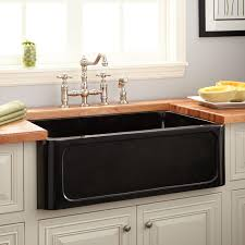 Granite Single Bowl Kitchen Sink 33 Polished Granite Farmhouse Sink Recessed Apron Polished
