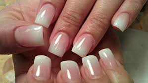 Light Pink And White Nail Designs Pin By Kathy On Hair And Makeup Diy Acrylic Nails Light