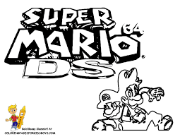 Definitely, your son will like to paint the black and white mario let him do it alone both on the book or on the internet. Super Mario Printables Super Mario Free Mario Brothers Coloring
