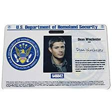 Cia Office Dean Amazon Badge Supernatural com Id Products