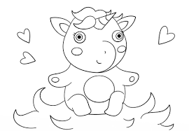 Cute Baby Unicorn Coloring Page Free Printable Coloring Pages