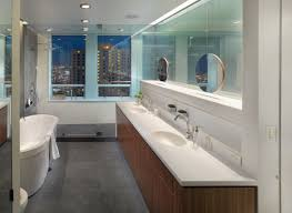 freestanding contemporary bathtubs. floating-round-mirrors-with-corian-bathtubs-and-freestanding- freestanding contemporary bathtubs
