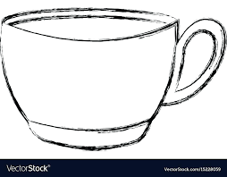 Tea Cup Coloring Page Printable Coffee Free Pages Teacup