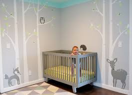 Small Picture Nursery Wall Decals for Gorgeous Baby Room Ideas in Modern Home