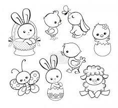 Vector Illustrazione Felice Di Vacanza Di Pasqua Con Cute Pollo