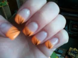 Gelové Nehty Oranžové S čárkama