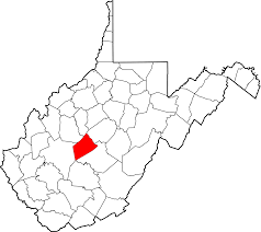 File map of west virginia highlighting clay county svg