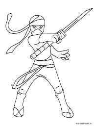 Small Picture Ninja coloring pages Free Printable Ninja coloring pages