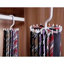 details about adjule 360 rotating 20 hook belt organizer scarf tie rack hanger tie holder