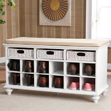 classic polished wooden entryway bench. Simple Polished White Wooden Storage Benches With Drawers Basket Style Set Shoe  Underneth Beige Colored Seat Intended Classic Polished Wooden Entryway Bench Y