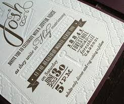 sarah josh's diy letterpress wedding invitations paper crave Wedding Invitations With Letterpress gold blind debossed letterpress wedding invitations wedding invitations letterpress affordable