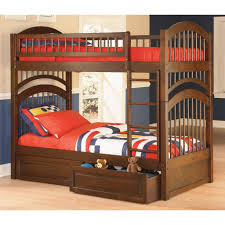 cool kids beds for girls. Charming Espresso Wooden Bunk Bed With Double Storage Design Cool Kids Beds For Girls