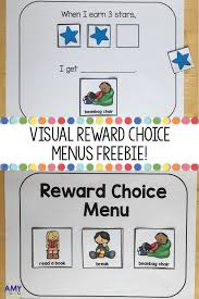 First Then Chart Free Visual Reward Charts Individual Behavior Chart