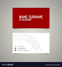 Modern Simple Business Card Template For Ux