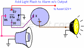 how to wire relays light flash using siren output light flash using siren output