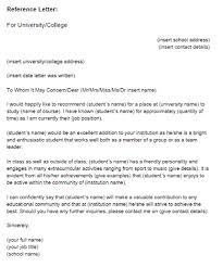 Letter Of Recommendation Template For Student Writing A Recommendation Letter For A Student Insaat Mcpgroup Co